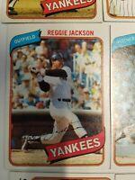 1980 TOPPS NY YANKEES TEAM SET (28) - REGGIE JACKSON, GUIDRY, GOSSAGE