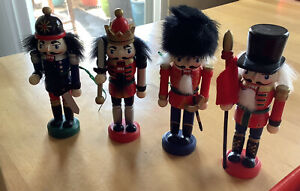 Christmas Nutcracker Wooden Figure Lot Of 4