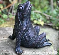 17cm Bronze effect Gazing Frog garden pond ornament decoration frog lover gift