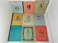 Lot 9 cahiers d'école écolier scolaires anciens Français Histoire Math années 50