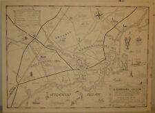 Rare 'KENNEBUNK REGION' Maine ARUNDEL PRINT SHOP Pictorial MAP - Kennebunkport