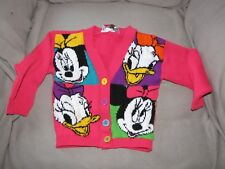MICKEY'S STUFF BY JET SET VINTAGE 80S UGLY CUTE CARDIGAN SWEATER DISNEY 4 5