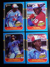 1987 Donruss Highlights Montreal Expos Team Set of 4 Baseball Cards