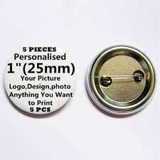 "5 Custom Personalised COMIC Pin Back Pin Button Badge pinback 1"" (25mm) 5PC B22"