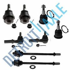 (4) Inner Outer Tie Rod End Set (4) Upper and Lower Ball Joint Kit - Heavy Duty