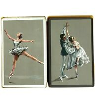 2 Decks Ballerina Playing Cards w/Case Vintage The United States Playing Card Co