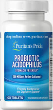 Puritan Pride Probiotic Acidophilus 100 Million Cultures 100 Tablets (free ship)