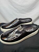 Free People Black Gloss Women Slip On Shoes Size 39