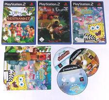 3 Spitzen KINDER Spiele für Playstation 2 z.B. DIE SIMS, WALLACE GROMIT; SPONGE