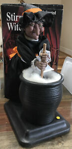 """GEMMY Halloween Factory ~ STIRRING WITCH ~ 16"""" Animated Figure - WORKS GREAT"""