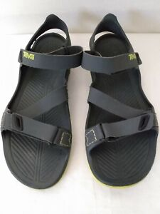 Mens size 10 Teva Barracuda Sport Sandals Waterproof Grey/ Green 1002863