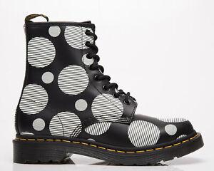 Dr. Martens 1460 Black Smooth Polka Dot Women's Black White Lifestyle Boots Shoe