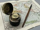Early WW1 Russian Imperial Navy Officers K.K.A PRIV Inkwell Athens Map, Dip Pen
