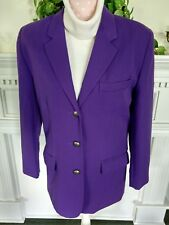 Chaus Sz 8 women's blazer deep purple lined polyester-rayon