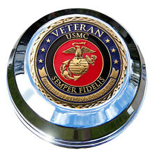 MotorDog69 Marine Veteran Harley Gas Cap Coin Mount