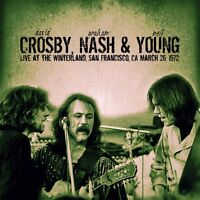 CROSBY, NASH & YOUNG - Live At The Winterland, CA, 1972. New CD + Sealed