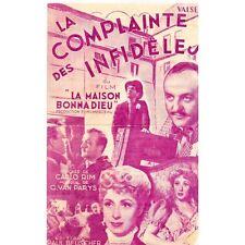 La COMPLAINTE des INFIDÈLES Music Georges Van PARYS Parole Carlo RIM Valse 1951