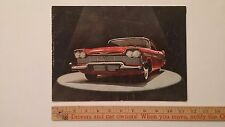 1958 PLYMOUTH - Color Dealer Sales Catalog Brochure - Good - US