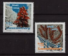Christmas 2015 set of 2 mnh stamps Luxembourg B498-9 Trees snow winter
