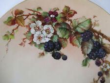 Plate Hand Painted Thomas Porcelain Blackberries Vintage Bavaria Cabinet Plate