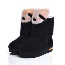 Wadenhohe Stiefel ohne Muster für Damen
