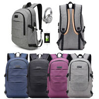 Large Anti-Theft Men Women Travel Backpack USB Charge Laptop Updated School Bag