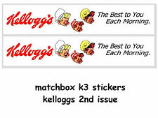 MATCHBOX DIECAST TOYS K3 TANKER STICKERS KELLOGGS 2ND