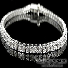 "1 Row White Gold Finish .25ctw Genuine Round Diamond Tennis Bracelet 8"" Ladies"