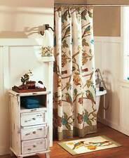Antique Aviary Birds & Blooms Bath Set Butterflies Spring Garden Rug Towels Set