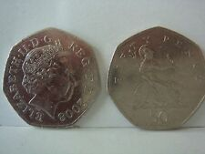 2008 BRITANNIA 50P COIN - 4th RAREST  AFTER KEW GARDENS, FIFTY PENCE..::::;: