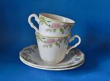 Due ROYAL DOULTON Majestic Collection Sudbury 2nd qualità del caffè Tazze e piattini