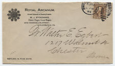 1915 4 cent Washington Franklin on double rate cover Philadelphia PA [y1697]