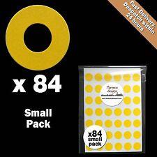 84 X GIALLO Hang tag Anello / ROUND punzonati FORO RINFORZO Adesivi / Etichette