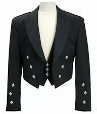 Scottish Prince Charlie Kilt chaqueta & Chaleco/Chaleco Vestido para Boda Reino Unido Stock