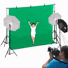 New Photo Photography Umbrella Lighting Kit Studio Light Bulb Muslin Backdrop St