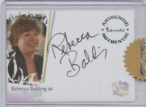 Charmed Destiny Autograph Trading Card Rebecca Balding as Elise (Razor)