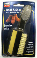 Boot and Shoe Cleaning Tool, Long Handle Brush & Eraser bar, R7004 Nylon Bristle