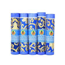 Bermoni Aromatic Tibetan Joss Incense Sticks-Pack of 5 Medicine Buddha- NAVY