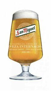 Set of 4 x San Miguel Half Pint Glasses 10oz Brand New 100% Genuine CE Mark