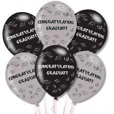 """felicitación graduado Graduación Látex Fiesta Celebración Globos 11"""" Paquete 6"""
