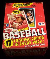 1981 Fleer Baseball Box ^ 36 Packs ^ Possible Baines Rookie