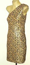 LITTLE MISS PIN UP SequinAnimalPrint1ShoulderedSzXSasNEW