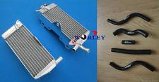 FOR Honda CR125R CR125 CR 125 R 1989 89 aluminum radiator & hose BLACK