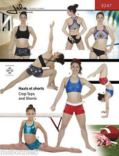 Jalie 3247 Crop Tops & Shorts Gymnastics & Exercise Sewing Pattern in 24 Sizes