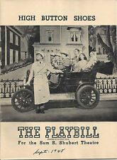 VINTAGE 1948 PLAYBILL ~ HIGH BUTTON SHOES - PHIL SILVERS - JOAN ROBERTS