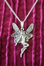 BEAUTIFUL LARGE TIBETAN SILVER FAIRY NECKLACE
