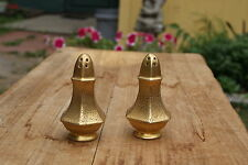 VINTAGE...CERAMIC.....GOLD TONE......SALT & PEPPER SHAKERS....JAPAN