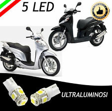 COPPIA LUCI DI POSIZIONE 5 LED BIANCHI HONDA SH 125, 150, 300 ULTRALUMINOSI6000K
