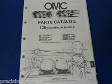 1989, 125 Commercial Models OMC Evinrude Johnson Parts Catalog