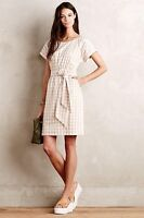 Ribboned Poplin Dress HD Paris Size 0 Gingham NWT